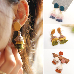 ★SALE★ 라하프 캉캉 태슬 가죽 귀걸이 [rachaph Italy vegetable leather tassel earring]